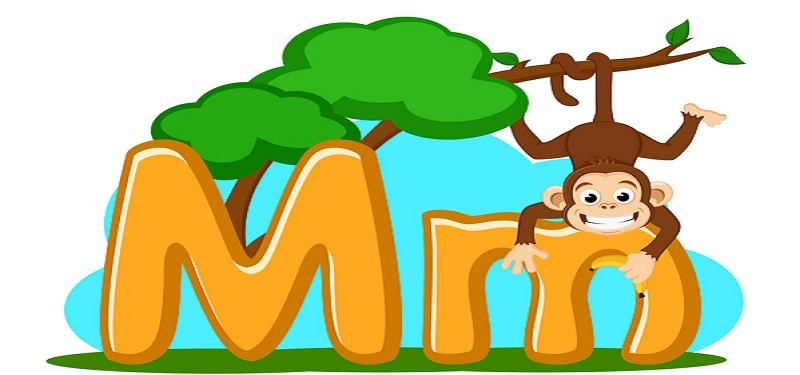 Animal Alphabet Art- M is for Monkey