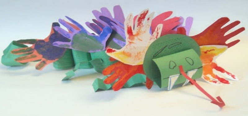 Kids Craft- Chinese New Year Paper Dragon Sculpture